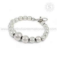 Bewitching Beads Design Solid Silver Bracelet Wholesale 925 Sterling Silver Jewelry Supplier Handmade Silver Jewellery