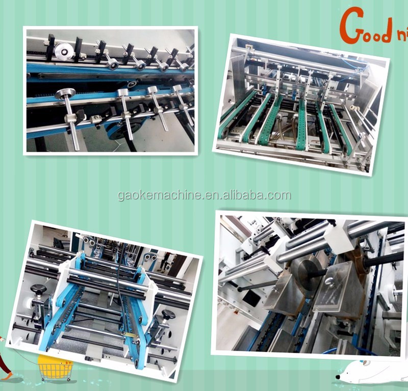 GK-1450PC Automatic High Speed Crash Lock Bottom Folder Gluer Machine