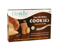 DiaBliss Millet Cookies Diabetic Friendly Made From Herbal Extracts & Cane Sugar