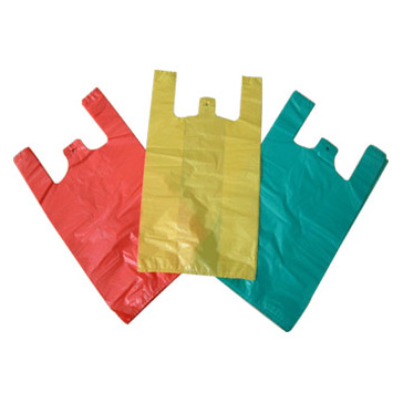 T-shirt plastic bag safe for food, fruit with vest handle/ Plastic bag for exporting with cheap price