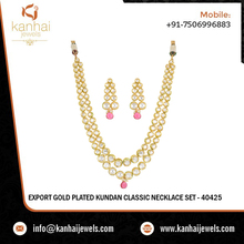 Indian Artificial Kundan Necklace Set Wholesale Exporters & Jaipur Artificial Kundan Jewellery Wholesaler & Manufacturer - 40425