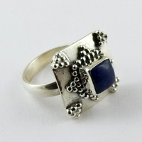Let's Dance !! Blue Lapis 925 Sterling Silver Ring Size-6.5 US, 925 Silver Ring For Beautiful Fingers, Beautiful Silver Jewelry