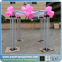 hot sale air conditioned event wedding aluminum backdrop stand pipe drape