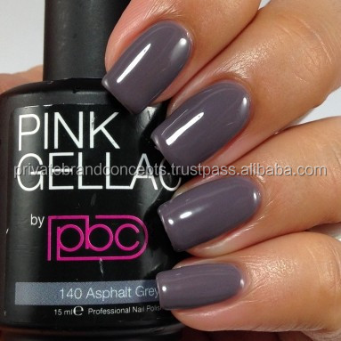Color140 Asphalt Grey/Private Label/Professional Gel Nail Polish/Gel Polish/UV/Led Gel Polish Salon Quality