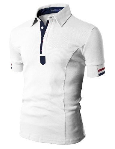 Hot Sale Custom 100% Cotton Men Polo T shirt In White