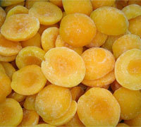 10mm Diced Peeled Frozen IQF Yellow Peach