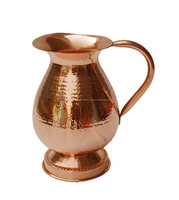 LOWEST PRICED BEST MANUFACTURER OF COPPER STEEL WATER PITCHER FROM INDIA INDIAN STYLE WATER JUGS
