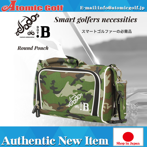 B Golf JADO collaboration round porch JGRP0101B shoulder bag green camouflage. B & JADO Judd