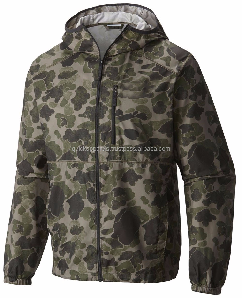 many pockets camo design mens custom lightweight windbreaker jackets wholesale