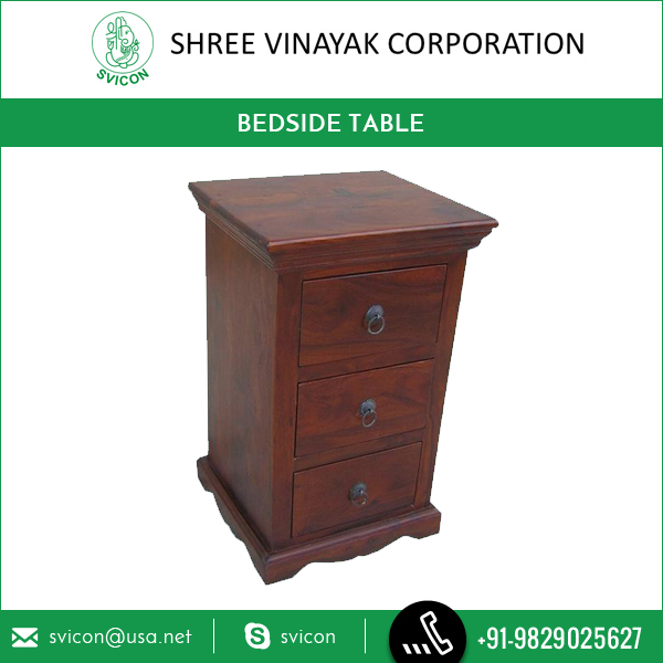 Solid Wood Indian Bedside Table from Biggest Wood Manufacturer