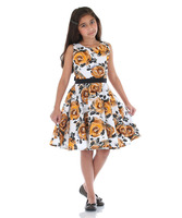 Indian Fashion Flower Printed Frock for Girls