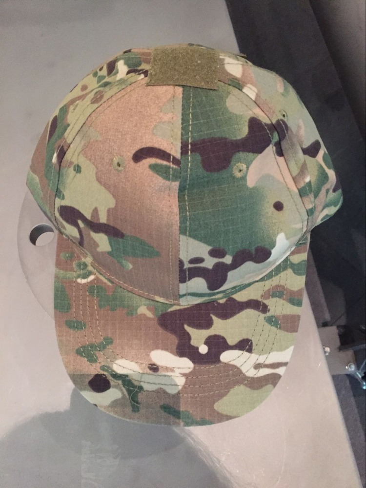 uniform cap,CP / Multicam All-terrain camouflage Velcro CS Special Tactical baseball hat soldier adjustable hat