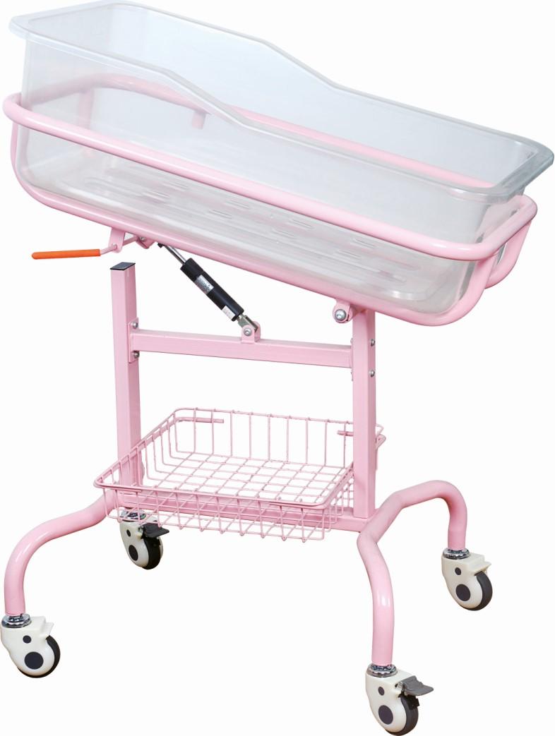 Plastic Medical Baby Crib With Mattress Hospital Infant