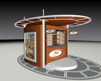 Fast Food Kiosk HE Outdoor Bakery Store Info Booth Hot Dog Waffle Bar Modular Street Food Kiosk