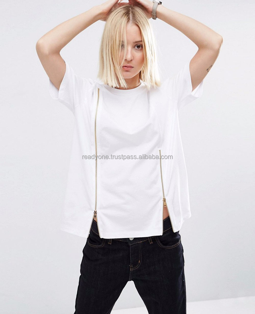 wholesale women t shirt best selling hot chinese products 100% cotton small quantity candy clothing