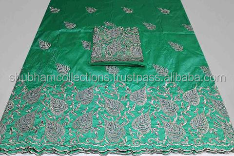 Latest Embroidered Design African George Wrappers Fabric