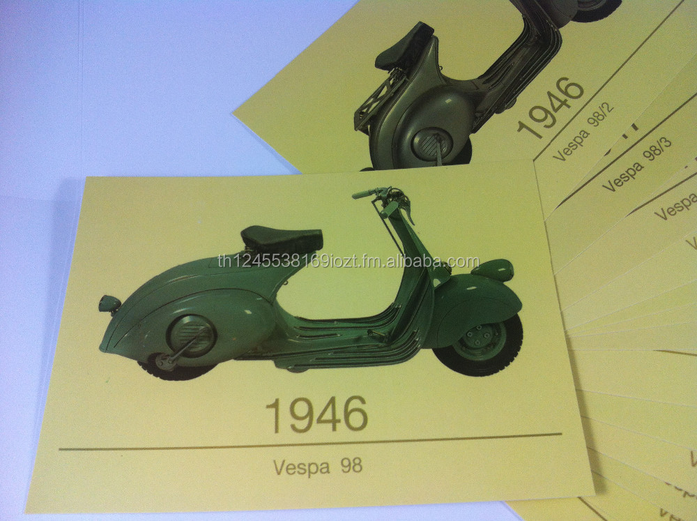 Sale Promotion SET OF 16 POSTCARD SIZE PHOTO Piaggio,Vespa New SEALED 1946-1958 RARE Vintage