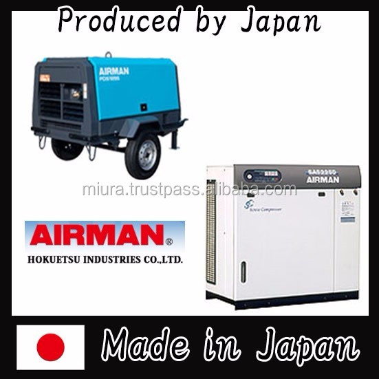 Durable and High quality portable compressors with Various types of made in Japan