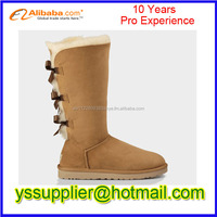 2015 Hot Sale Fashion High Quality Ladies bow Boots Cheap Boots