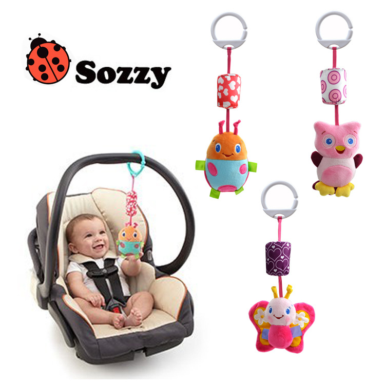 wholesale baby Sozzy wind bell toy/car hanging plush toy