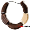 Vietnam ebony wood and lacquer necklace, wood jewelry - VN1836