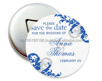 Blue Forest Save The Date Photo Fridge Magnet Bottle Opener (or Keychain)
