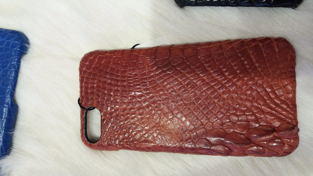 La Force genuine crocodile leather case cover for iPhone 5.5 inch phone case