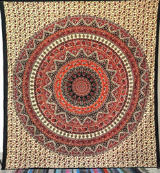 Indian Black Star Mandala Queen Psychedelic Star Mandala Tapestry Wall Hanging, Indian Bedspread Hippy