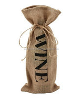 TBB074, LIVE GREEN, burlap wine bottle bag