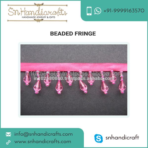 Beaded Fringe Trim Crystal Bead Curtain Trim