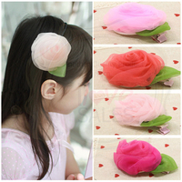 Organza Rose Hair Clip/Hair Accessory
