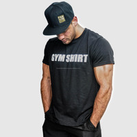 Gym Shirt / cotton/nylon gym t-shirt, fitness t-shirt, custom printed gym t-shirt / 180gsm ring spun pre shrunk jersey knit