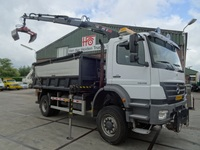 MB AXOR 4x4 1828 MANUAL with CRANE AND TIPPER