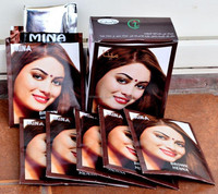 Mina black henna hair color-ammonia free Permanent henna hair dye