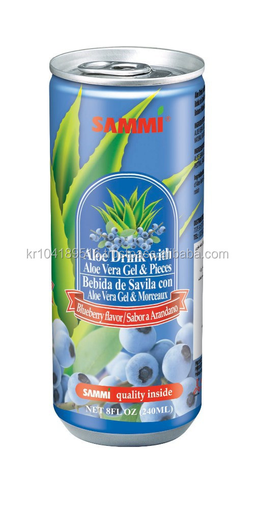 Aloe Drink with Aloe Vera Gel Blueberry Flavor