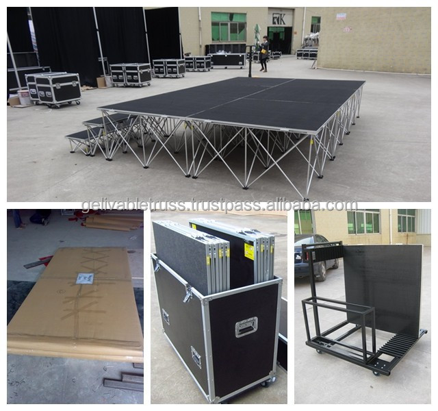 Aluminum Used Mobile Staging Stair Accessories