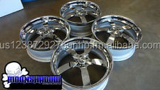 DECIMO 2-PIECE SATIN/CHROME WHEELS 5X4 3/4 BOX CHEVY CUTLASS DONK