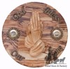 Praying Hand God bless our Home plaque Hand Made Bethlehem Zuluf (R) - WAH015