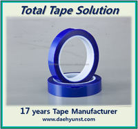 Urethane film silicone adhesive 'Surface Protection' tape ((curved) touch screen/glass/PC/PMMA protector, blue tape)