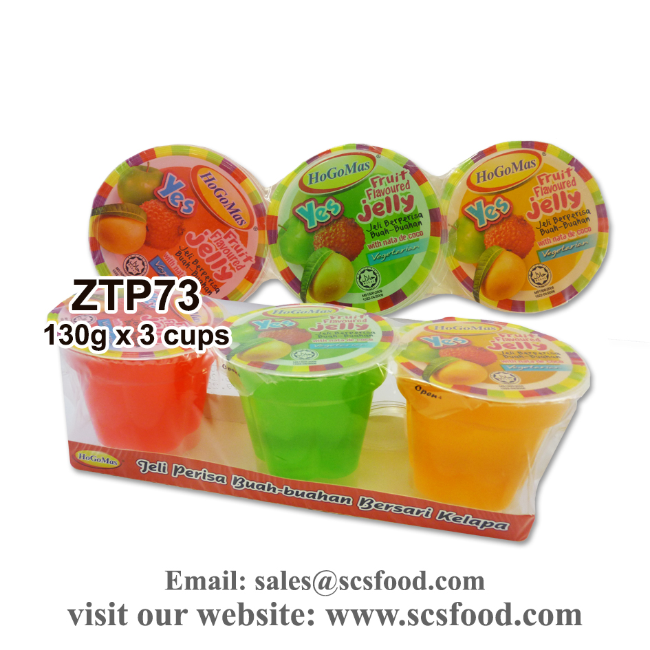 Fruit Flavoured Jelly with Nata De Coco 130g x 3 pcs