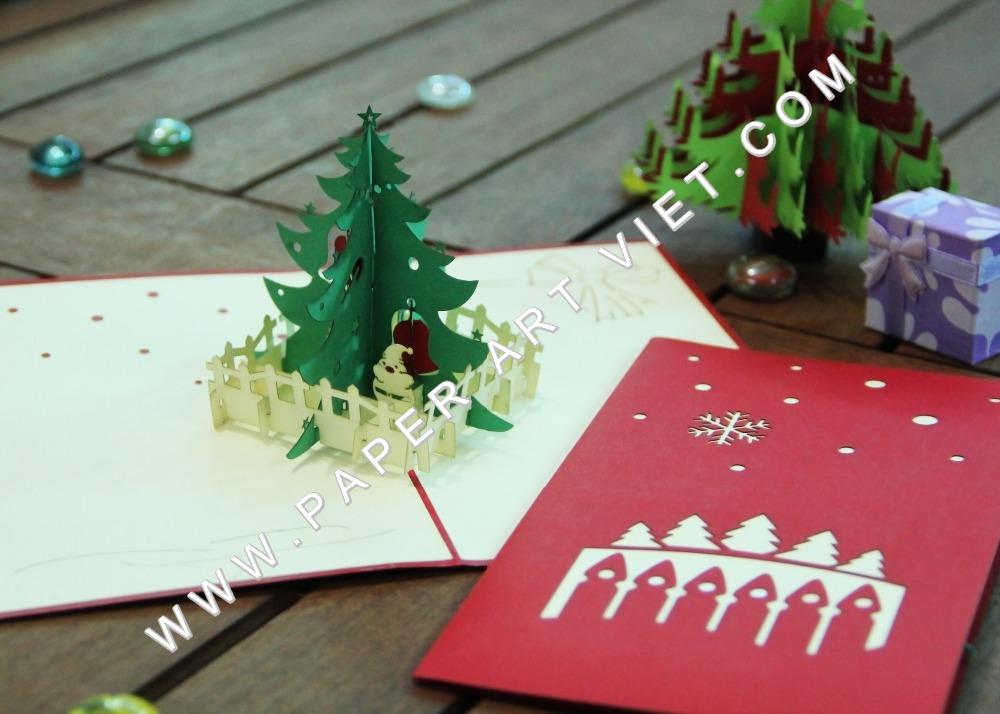 3d pop up gru karte mit kiefer weihnachten gru karte. Black Bedroom Furniture Sets. Home Design Ideas