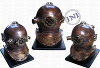 Brass and copper diving helmet, Decorative diving helmet, Brass diver helmet