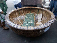 BAMBOO CORACLE/ MINI BOAT/ WOVEN BOAT