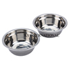 Polished Round shape Metal Pet Dog Feeder bowl