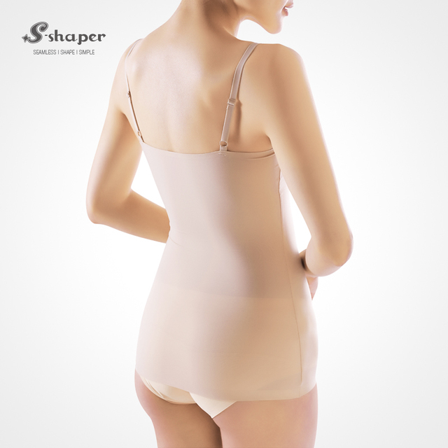 S-SHAPER Wholesale Ladies Slimming Shapewear Adjustable Strap Breathable Tank Tops Body Shaper Camisole
