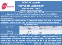 Protein powder foaming agent for foods: BOLISS COMPLEX dried white egg protein based healthcare supplement / box of 500 sachets