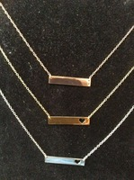 Hand Stamped Gold Bar Necklace...Personalized Name plate bar jewelry, monogram, bridesmaid gift