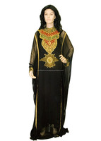 Stone Worked Women's Kaftan with Round Collared Neck