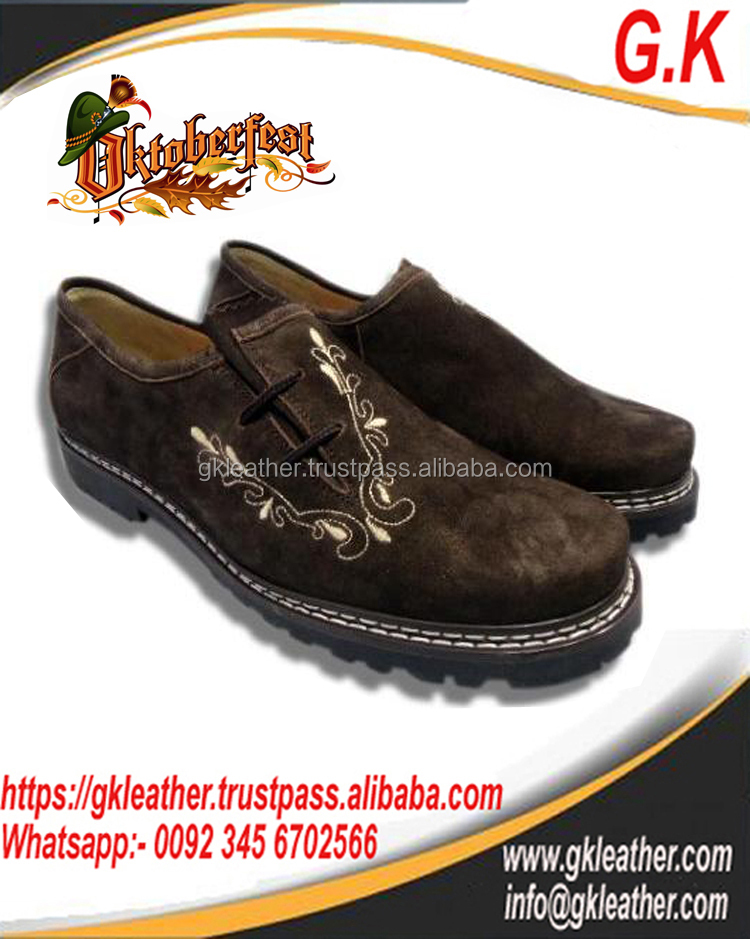 German Leather Shoes/Trachten Bavarian Oktoberfest Traditional Festival Shoes