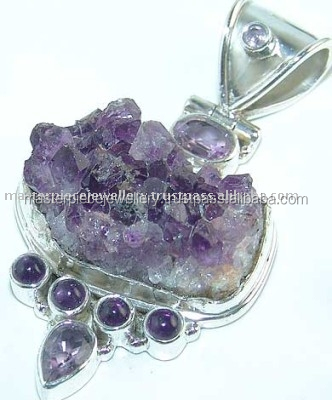 Masterpiece!! Semiprecious Pendant K5125 Sterling Silver Supplies Jewelry Making Gem Set Jewellery